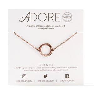 Adore by Swarovski Organic Circle Bracelet in RG